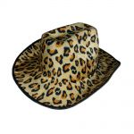palarie petrecere carnaval dama cowboy animal print leopard