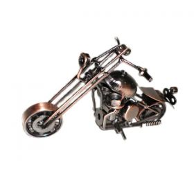 motocicleta macheta metal chopper