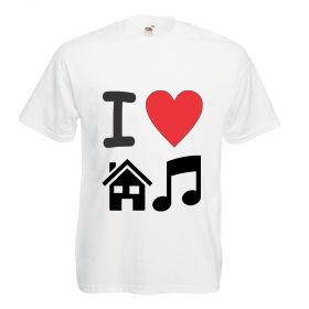 tricou personalizat i love house music