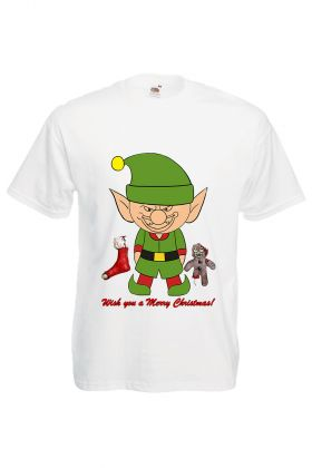 TRICOU BARBATESC PERSONALIZAT IMPRIMEU DTG WISH YOU A SCARY CHRISTMAS